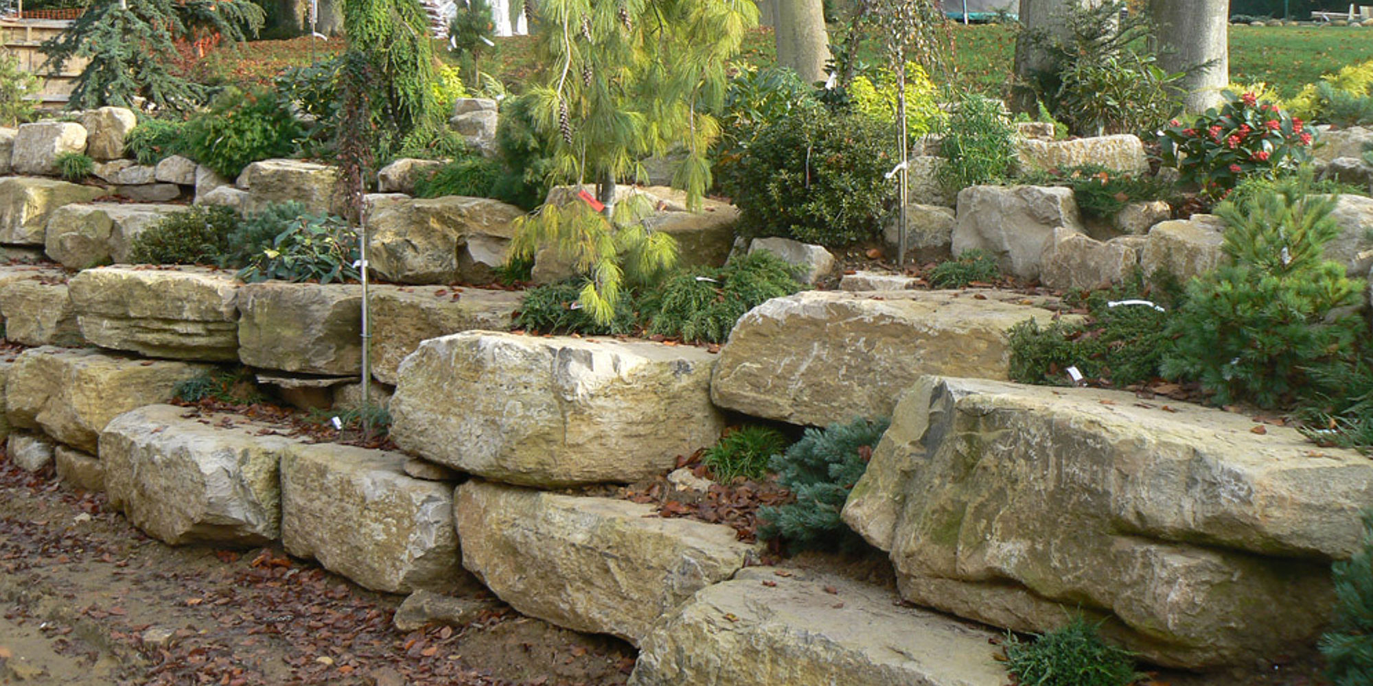 Stone Walling Stone Feature Stone